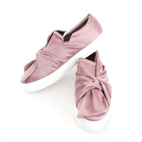 212be7633db Steve Madden fenty pink satin bow slip on sneakers.  M 5aad8dba9d20f0c4b62cc4bd